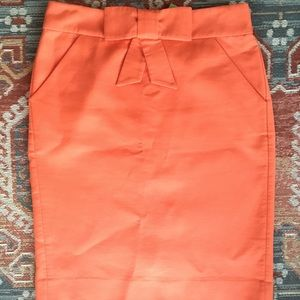 JCrew pencil skirt with bow